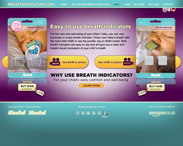 Breathindicator.com den slutgiltiga sidan