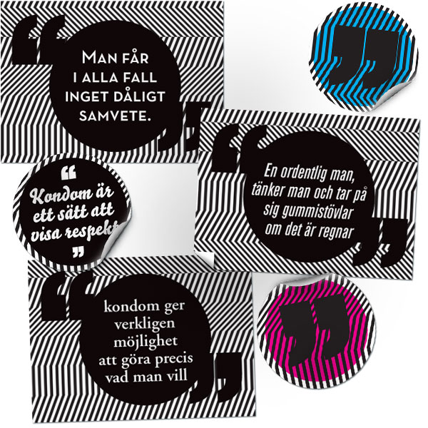 Gerilla-kampanj stickers
