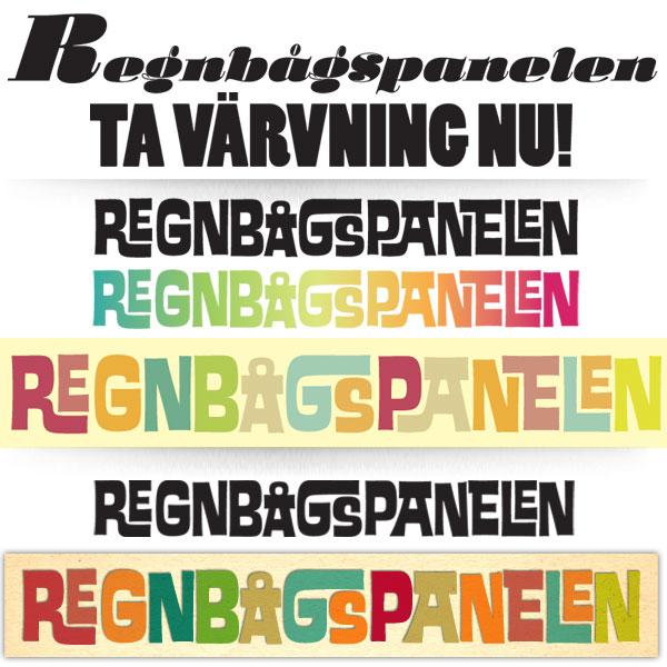 Regnbågspanelens logotyputveckling