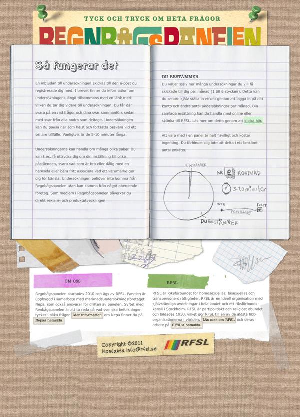 Regnbågspanelen - Webbundersida