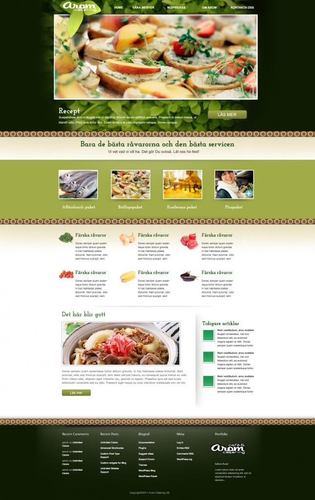 Arom Catering webbskiss